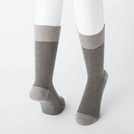 ヒートテック 靴下 ヘリンボーンソックス