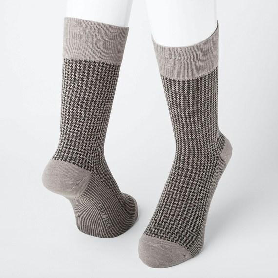 ヒートテック 靴下 チドリガラソックス