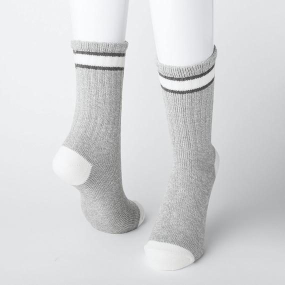 ヒートテック 靴下 ヘザーラインソックス